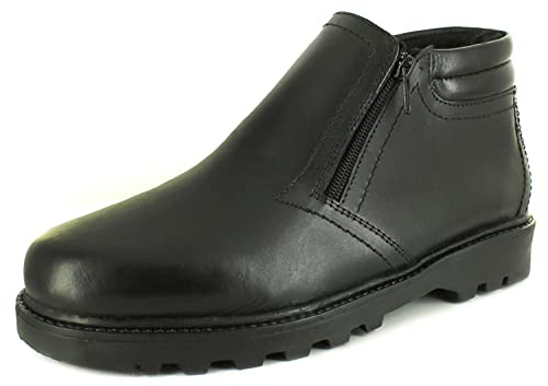 40c41e49b0c New Mens/Gents Black Dr Keller Billy Wide Fitting Twin Zip Boots. - Black -  UK SIZES 6-11