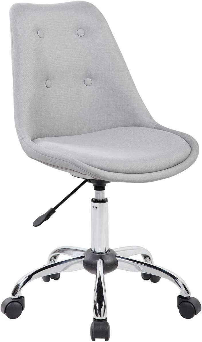 Techni Mobili Armless Desk Chair in Gray