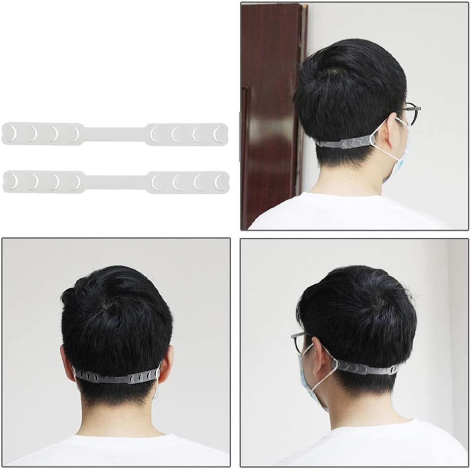 White Anti-Tightening Ear Protector Decompression Holder Hook Ear Strap Accessories Ear Grips Extension Mask Buckle Ear Pain Relieved Colour Random CHOWANT 50 PCS Strap Extender