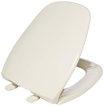 Astonishing Bemis 1240200 036 Eljer Emblem Plastic Toilet Seat Round Natural Dailytribune Chair Design For Home Dailytribuneorg