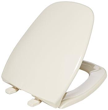 Bemis 1240200036 Eljer Emblem Plastic Round Toilet Seat, Natural
