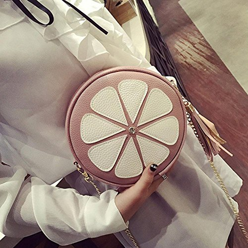 Chain Widewing Round Bags Bags Messenger Fashion Pink Handbag Red Women Tassel qqWRn0x7