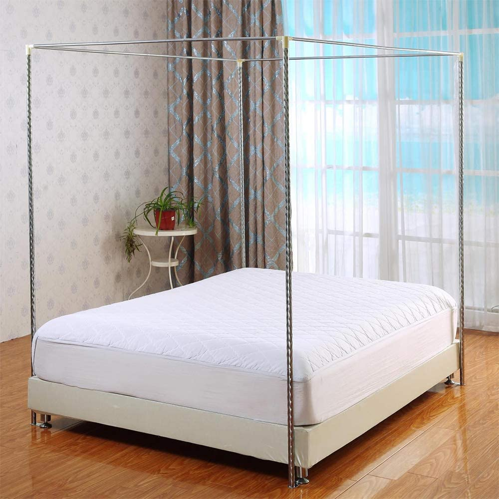Fit for Twin//Full//Queen//California King//King Size Bed,16mm,1/×2m bed Mosquito Net Bracket Four Corner Bed HOXMOMA Stainless Steel Canopy Mosquito Netting Canopies Frame