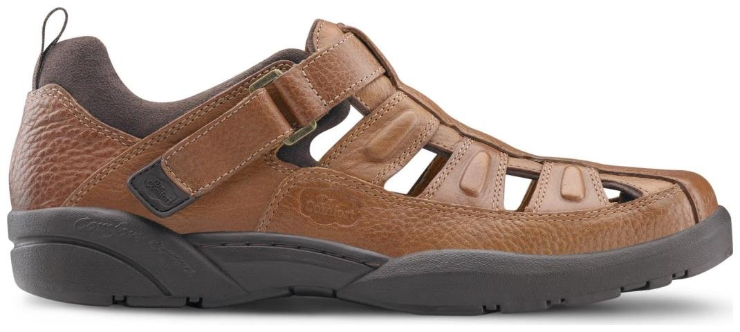 Dr. Comfort Fisherman Men's Therapeutic Diabetic Extra Depth Sandal: Chestnut 11.0 X-Wide (3E/4E) Velcro by Dr. Comfort (Image #6)