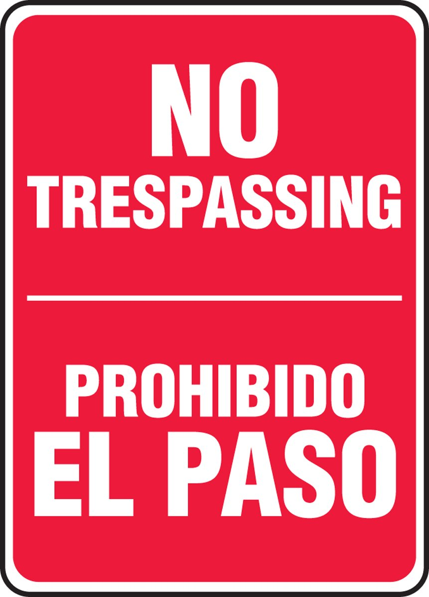 70 off accuform signs sbmatr539vp plastic spanish - Prohibido el paso ...
