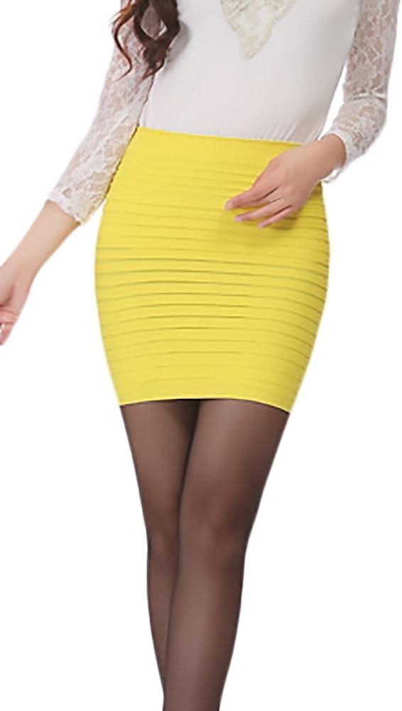 Mujer Falda Tubo Corto Elegantes Negocios Minifalda Verano Classic ...