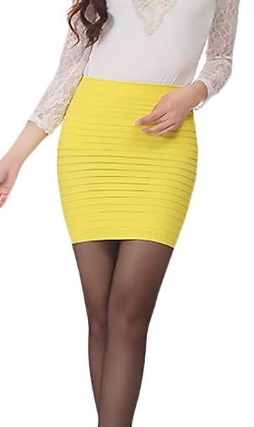 58ed559d3d2bf Falda Tubo Corto Elegantes Negocios Minifalda Verano Classic Fashionista  Color Sólido Elásticos Faldas One Size Ropa