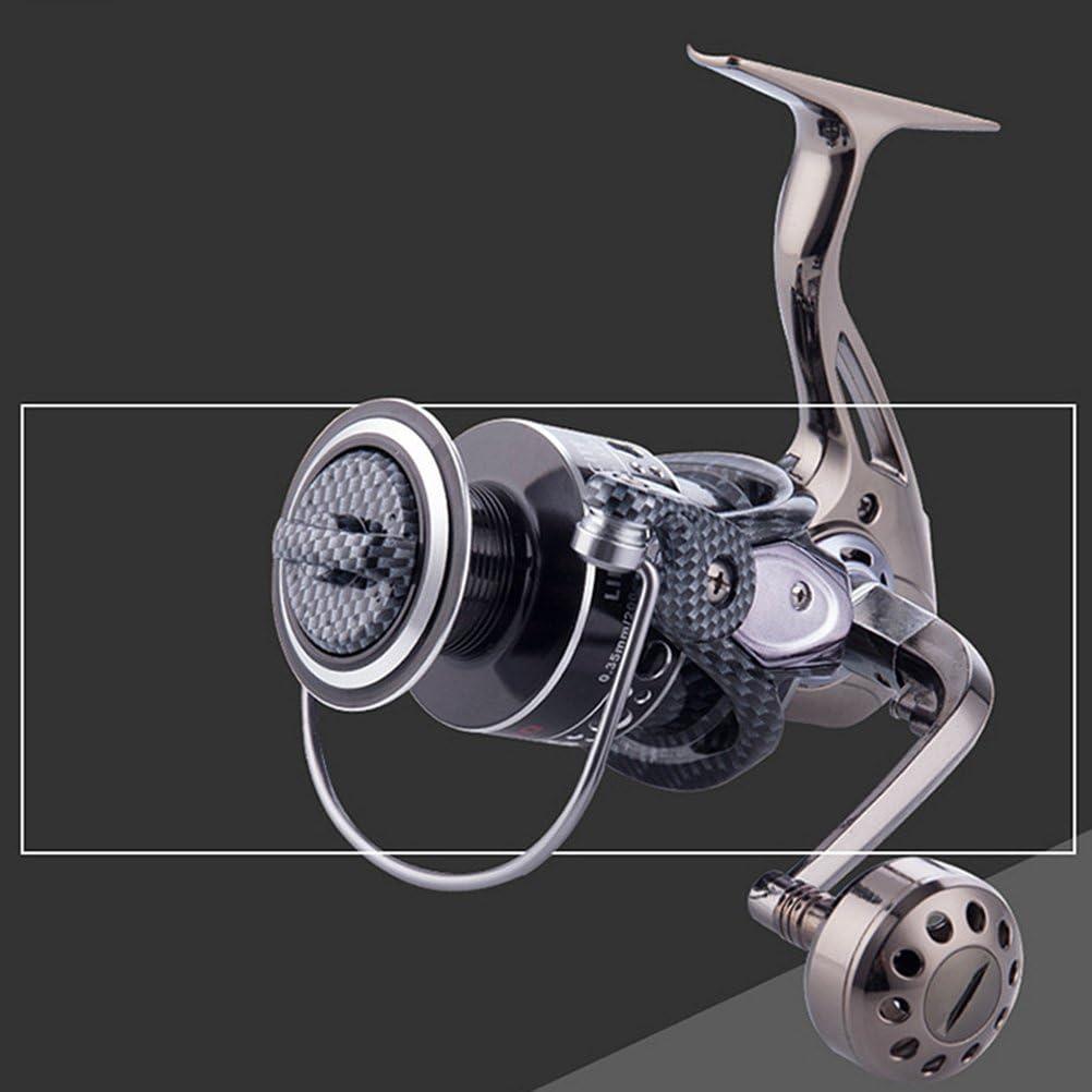 VORCOOL Moulinet de p/êche Spinning 12 1 BB Moulinet de p/êche Spinning Aluminium l/éger et Ultra-Doux Moulinet de p/êche 5.2 1 pour Eau sal/ée ou Eau Douce