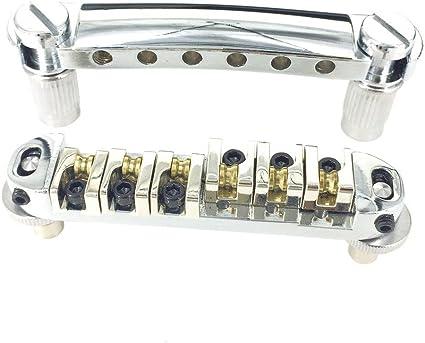 *NEW Roller Saddle BRIDGE for Gibson Tune-o-Matic Style Les Paul SG Chrome