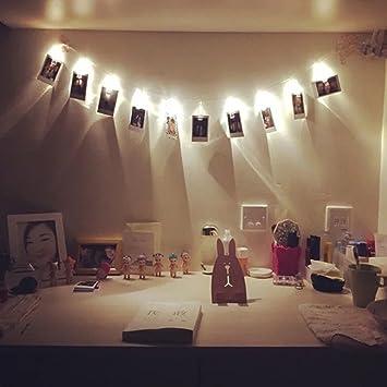 20 LED Lichterkette, Foto Clip Lichterkette Foto Clip Lichterkette 2,2 M  Line Länge