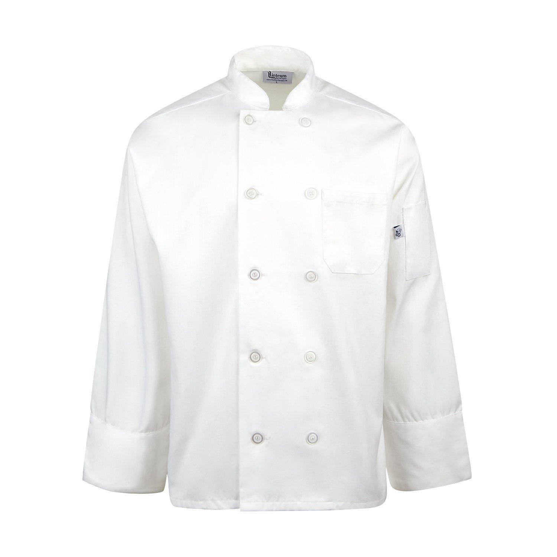 Linteum Textile 65//35 Poly//Cotton Unisex Chef Coat White
