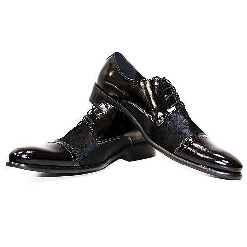 e7908ffddba Modello Messengo - Cuero Italiano Hecho A Mano Hombre Piel Negro Zapatos  Vestir Oxfords - Cuero Cabello de Caballo - Encaje  Amazon.es  Zapatos y ...