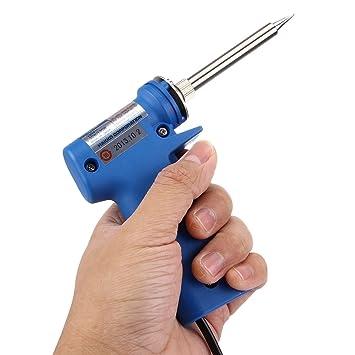 981F-V22A AC 220V 20W / 130W Ajustable de mano de hierro de soldadura eléctrico, enchufe de EE. UU.: Amazon.es: Bricolaje y herramientas