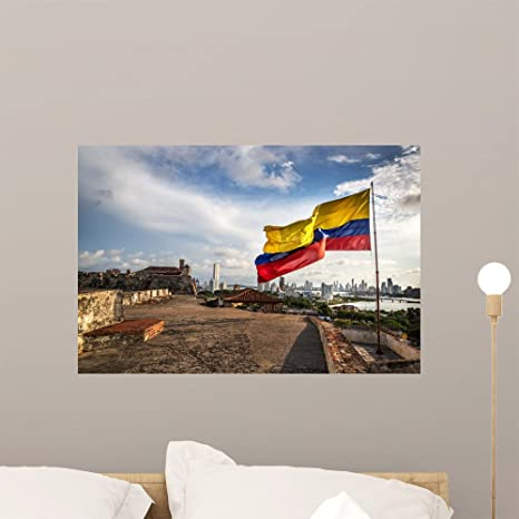 Wallmonkeys Cartagena Colombia August 2nd Wall Mural Peel and Stick Vinyl Graphic (24 in W x 16 in H) WM369173