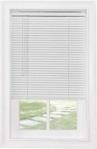 Classic Touch Cordless 1 Light Filtering Mini Blind, 25 Wide x 72 Long, White