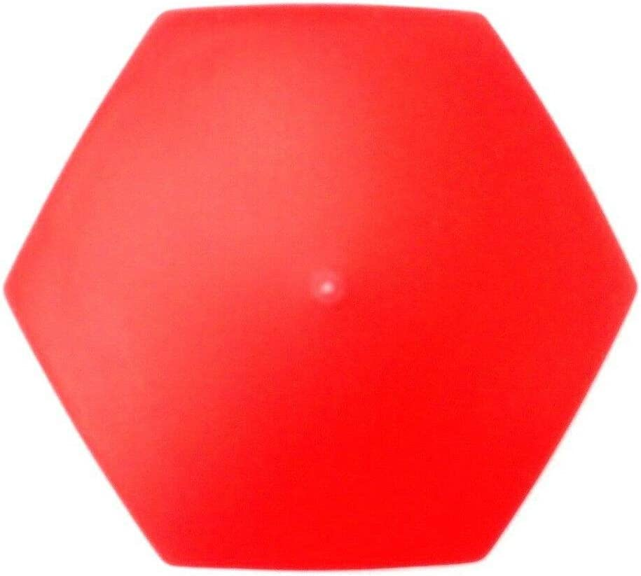 Matel Service 10x Wheel Nut Caps Diameter 32 mm Red Wheel Nut Cover Wheel Nut Protection Cap Truck