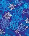 "Snowflake Swirl Metallic Gift Wrap Roll 24"" X 15'"