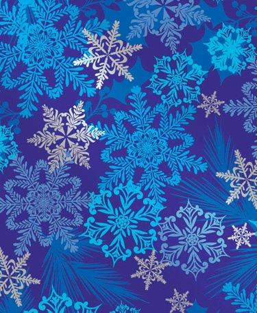 Snowflake Swirl Metallic Gift Wrap Roll 24