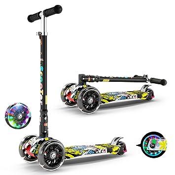 Patinetes clásicos Scooter para niños Bicicleta de Tres Ruedas para niño Bebé yo Scooter 3-