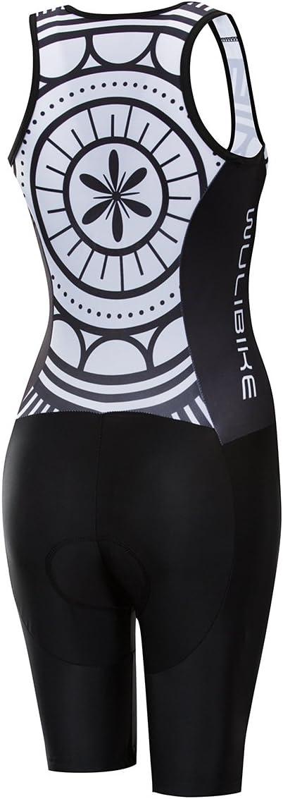 logas Combinaison Trifonction Femme Maillot Triathlon sans Manche
