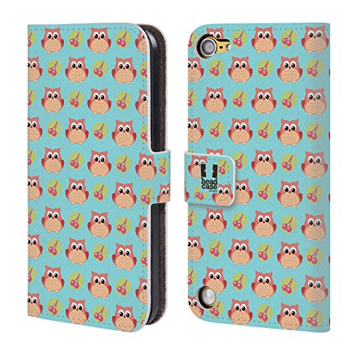 Head Case Designs Gufo Animali Carini Pattern Cover a portafoglio in pelle per iPod Touch 5th Gen / 6th Gen