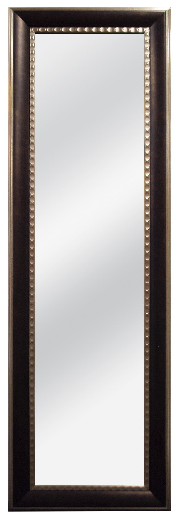 MCS 12x48 Inch Over the Door Two Toned Mirror, 18x54 Inch Overall Size, Bronze (47705)