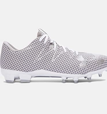 b466a8796 Under Armour Men s UA Nitro Low MC White Metallic Silver Sneaker 8 D (M