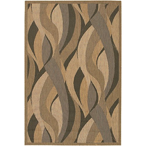 Couristan Recife Seagrass Rug, Natural/Black