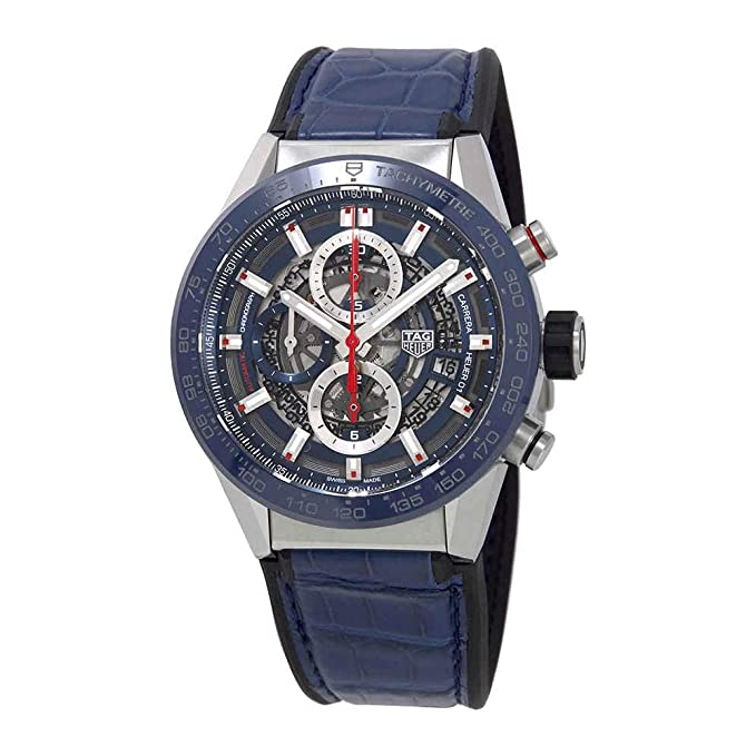 Tag Heuer Carrera Blue Skeleton Dial Automatic Mens Watch CAR201T.FC6406
