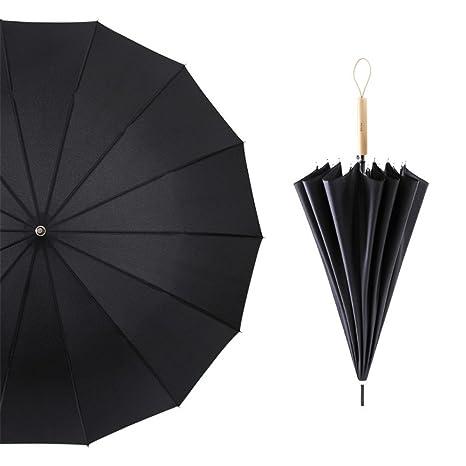 Guoke El Elegante Mango Largo Paraguas Chica Soleado Con Viento Y Lluvia Dos Amantes, Simple