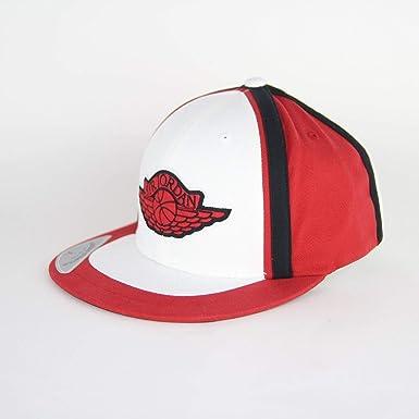 9eaadb3a4c26d2 MENS NIKE AIR JORDAN STRETCH FITTED CAP IN BLACK   RED (LARGE   XL ...