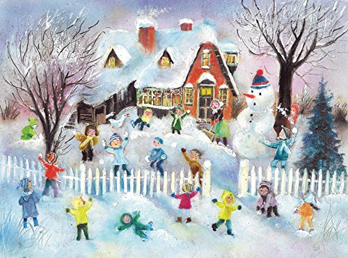Boston International Christmas Advent Calendar, 10 x 14-Inches, Snowball Fight