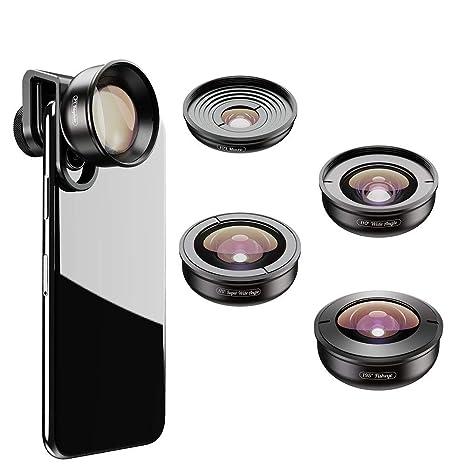 OOLOOYOO Kit Profesional de Lentes de cámara HD 5 en 1 para ...