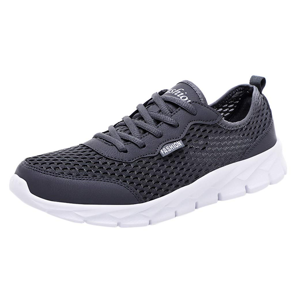 OutTop(TM) Couple Sneakers Summer Casual Sports Shoes Mesh Beach Breathable Students Running Walking Shoes (US:10, Dark Gray)