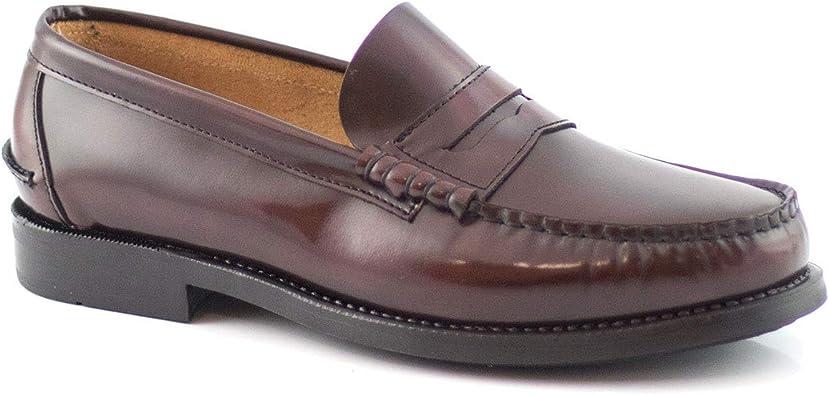 PAYMA - Mocasin Castellano de Piel para Hombre. Hechos en España. Zapato Clasico Antifaz y Borlas para Caballero. Piso de Goma Muy Flexible. Piel Antiarrugas. Antideslizante: Amazon.es: Zapatos y complementos