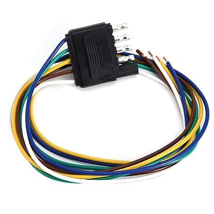 Duokon Arnés de cable del remolque, conector plano de 5 clavijas ...