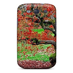 Flexible Tpu Back Case Cover For Galaxy S3 - Red Leaves In Autumn