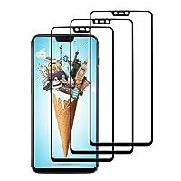 Ahzoe [3 pezzi] Pellicola Protettiva OnePlus 6, Vetro temperato OnePlus 6 Pellicola temperata OnePlus 6 HD Anti-graffio Anti-polvere Protezione schermo per OnePlus 6 (Nero)