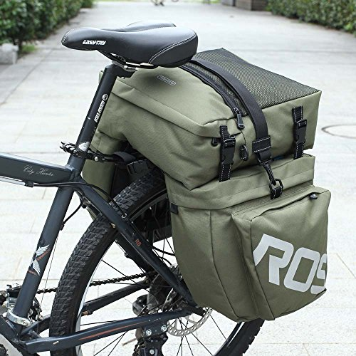 Docooler 3 in 1 Multifunction Road MTB Mountain Bike Bag Bicycle Pannier Rear Seat Trunk Bag