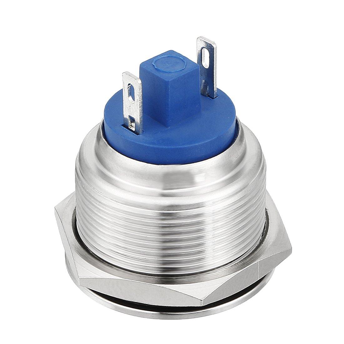 uxcell LED Indicator Light DC 12V 22mm Green Metal Shell Pilot Custom Dash Signal Lamp Flat Head