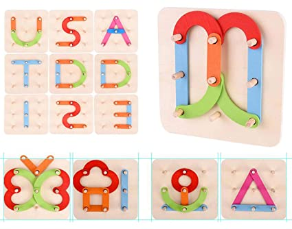 Home Imported From Abroad Wooden Early Education Baby English Learning Abc Alphabet Letter Cards Cognitive Animal Puzzle Toys