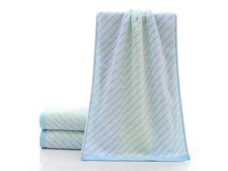 OHlive Brillante Stripe Adult Wash Wash Toalla para la Cara Pareja Absorbente Household Wash Toalla (