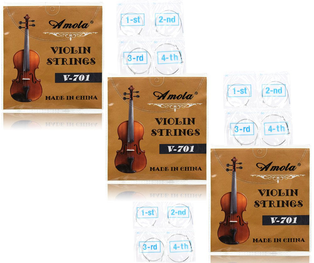 3 Packs Full Set Replacement Stainless Steel 4/4 Size Violin Strings E A D G 4334277429