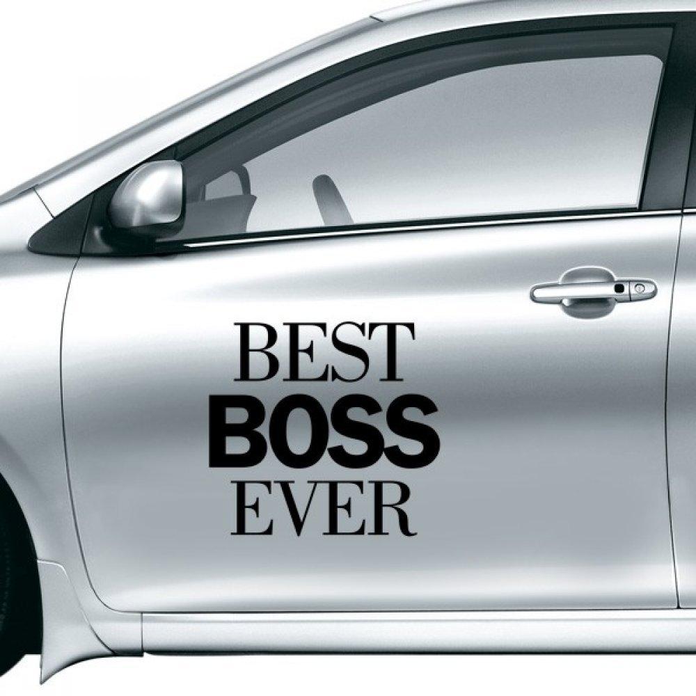 DIYthinker Mejor Boss Nunca Cita Etiqueta engomada del Coche en el Coche de Estilo Decal Pegatinas de la Motocicleta de Accesorios de Coches Regalo 30Cm