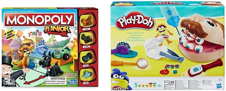 Monopoly Junior, versión Española (Hasbro A6984546) + Play-Doh PDH Core Dentista Bromista, Multicolor, 1 (Hasbro B5520EU4): Amazon.es: Juguetes y juegos