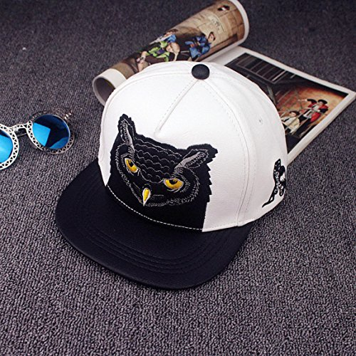 [Blazers Proforms Costumes FASHION Mens adjustable Hip-Hop BBoy hats Unisex Snapback casquette baseball cap - Black Owl White] (Womens Army Costumes Australia)