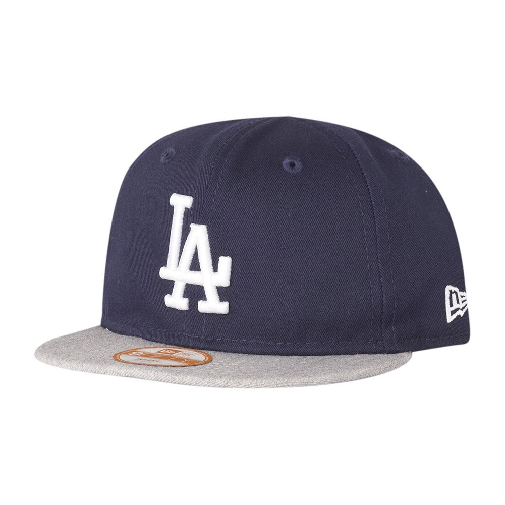 New Era 9Fifty Plana Snapback Bebé Niño Gorra - LA Dodgers azul marino 100% algodón 20% lana 80% acrílico bebé-niños 48.2cm Azul marino/Heather