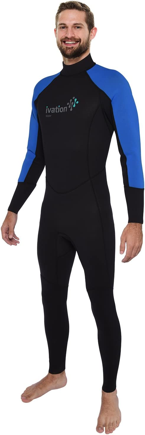Ivation Men s 2.5mm Premium Neoprene Full Body Wetsuit – Excellent for Multisport Use in and Out of Water