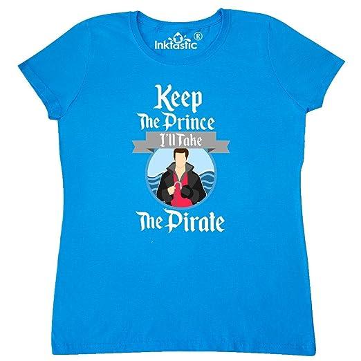 15daa00edad Amazon.com  inktastic - Keep The Prince I ll Take The Pirate Women s  T-Shirt 28cac  Clothing