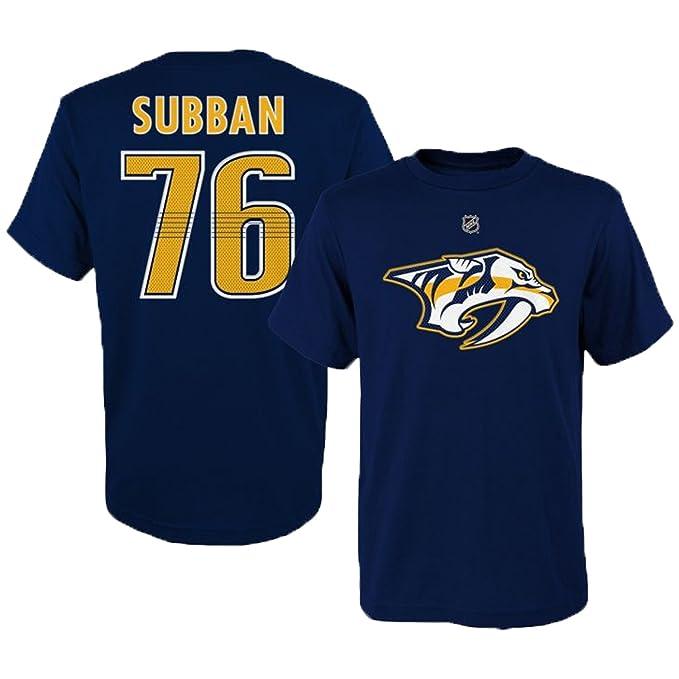 PK Subban Nashville Predators  76 Navy Youth Player Name And Number T Shirt  (Medium a78bb4c30